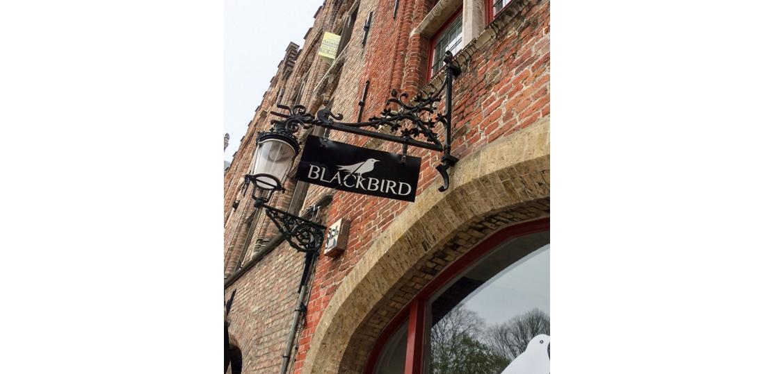 Brugge Blackbird |  gepersonaliseerde naambord